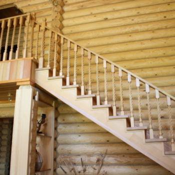 Цельнодеревянная лестница Зеленодольск Раифа